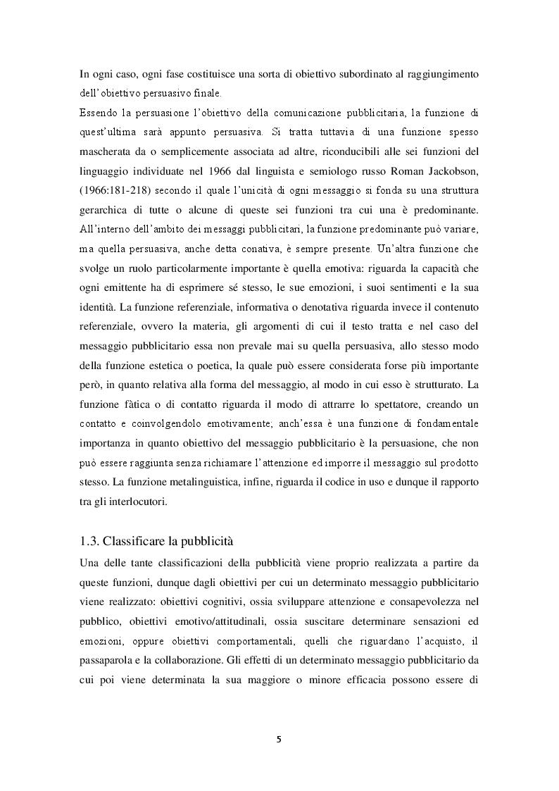 Anteprima della tesi: La pubblicità e la traduzione del messaggio pubblicitario problemi e strategie traduttivi., Pagina 3