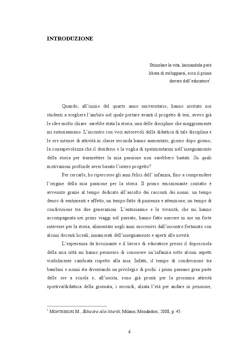 Anteprima della tesi: Quando i nonni raccontano. L'affettività nel laboratorio storico., Pagina 2