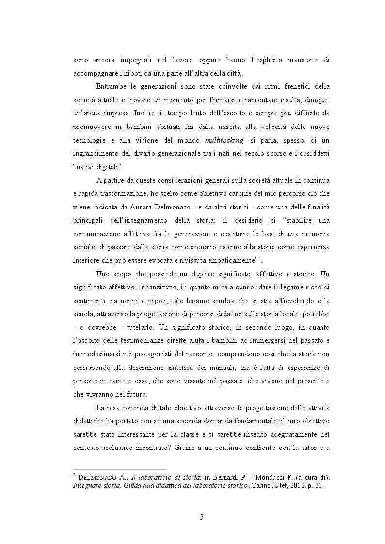 Anteprima della tesi: Quando i nonni raccontano. L'affettività nel laboratorio storico., Pagina 3