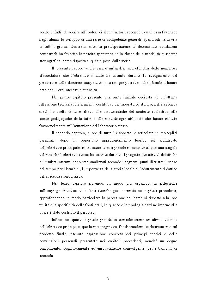 Anteprima della tesi: Quando i nonni raccontano. L'affettività nel laboratorio storico., Pagina 5