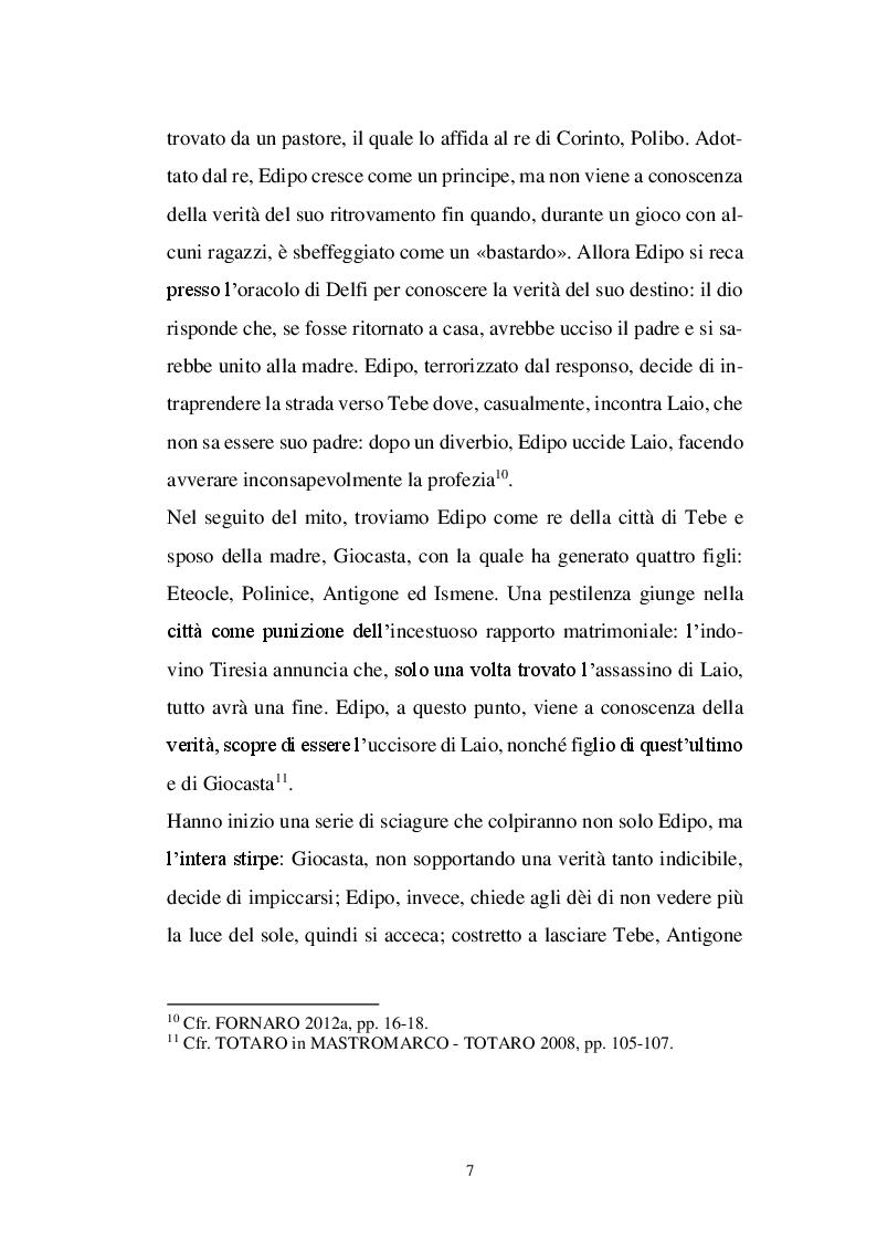 Anteprima della tesi: Il personaggio di Antigone da Sofocle alla tragedia rinascimentale, Pagina 6