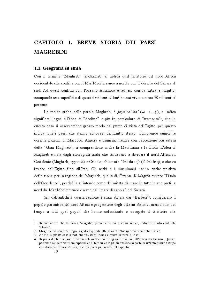 Anteprima della tesi: Maghreb, un mosaico di lingue. Politiche linguistiche di Marocco, Algeria e Tunisia a confronto, Pagina 3