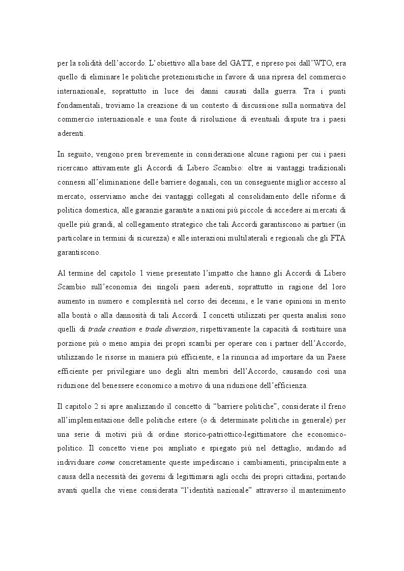 Anteprima della tesi: Gli Accordi di Libero Scambio: uno sguardo d'insieme e focus sul NAFTA, Pagina 3