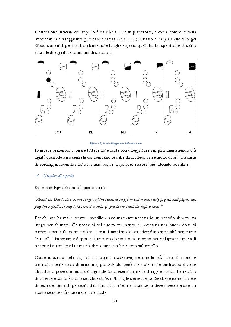 Estratto dalla tesi: Uno studio complessivo del sassofono soprillo