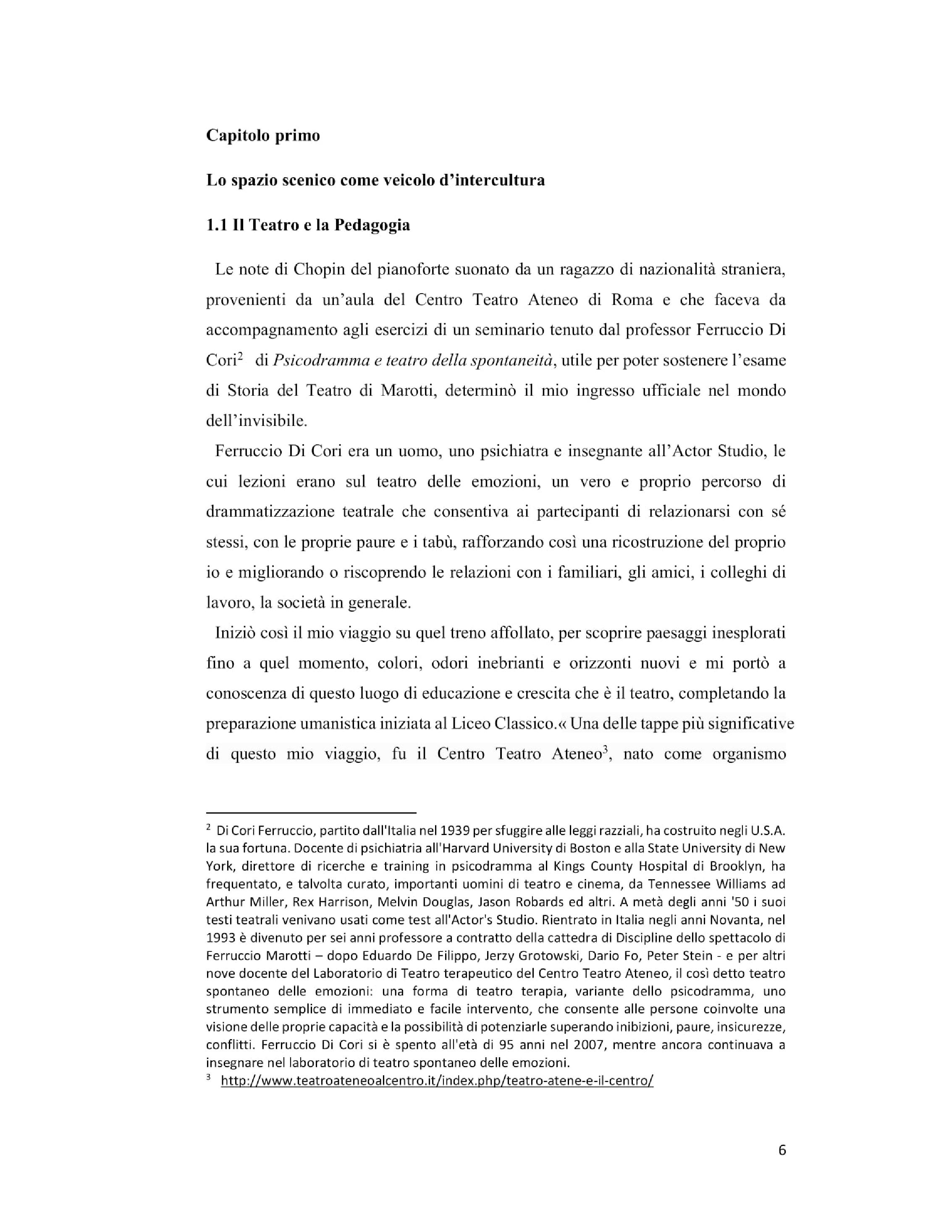 Anteprima della tesi: Il teatro come veicolo d'intercultura, Pagina 4