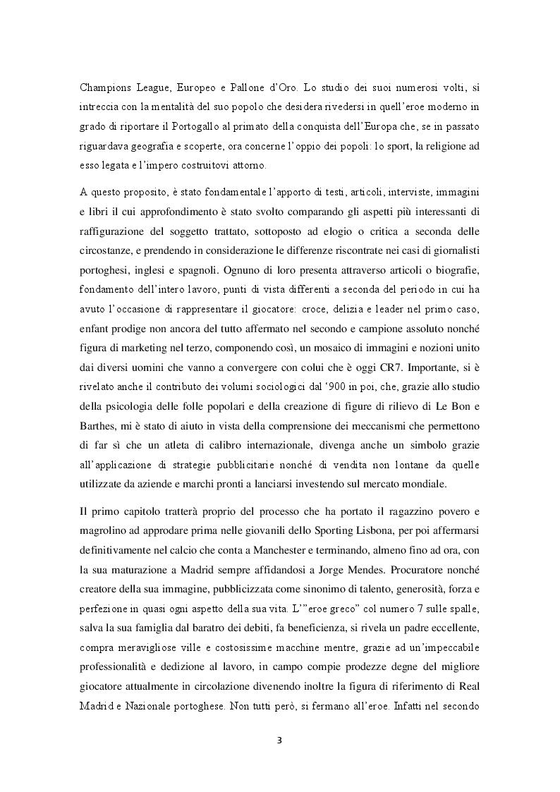 Anteprima della tesi: Mitologie calcistiche e mediatiche di CR7, Pagina 4