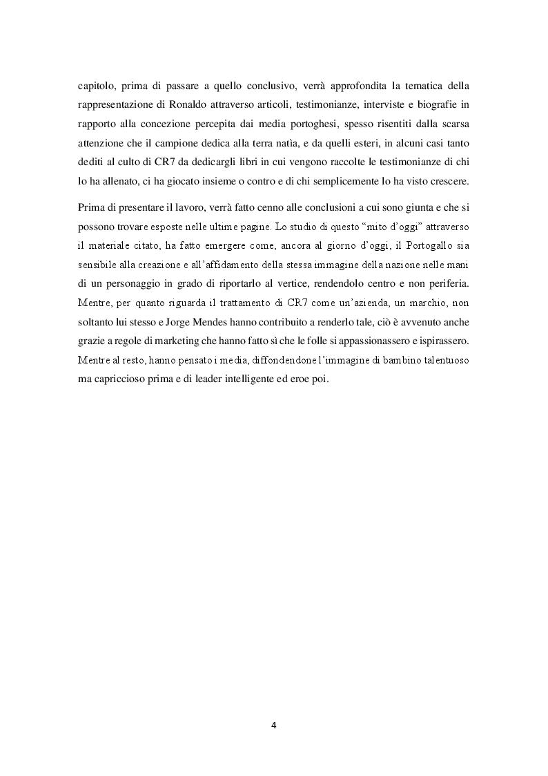 Anteprima della tesi: Mitologie calcistiche e mediatiche di CR7, Pagina 5