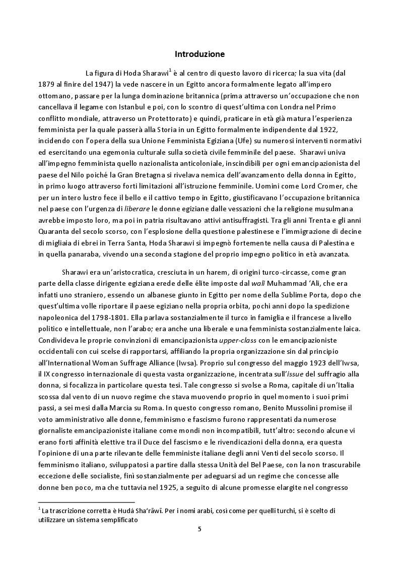 Anteprima della tesi: Hoda Sharawi e il movimento internazionale delle donne (1919-1947), Pagina 2