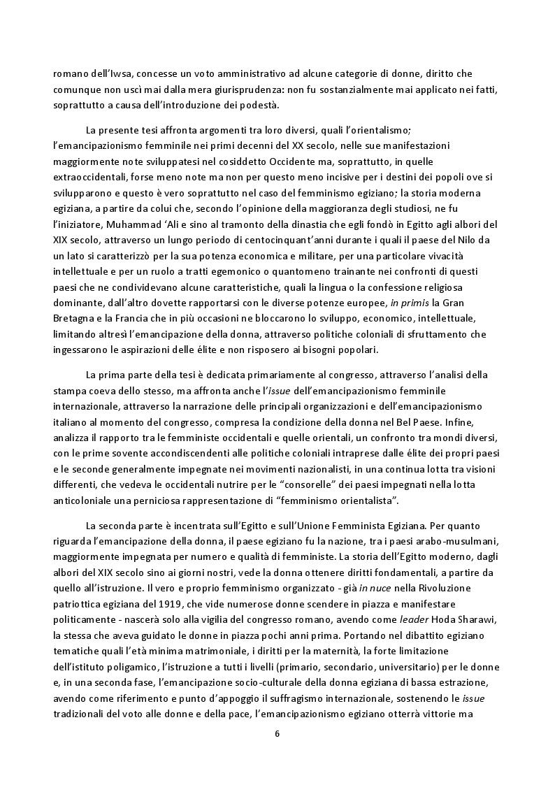 Anteprima della tesi: Hoda Sharawi e il movimento internazionale delle donne (1919-1947), Pagina 3