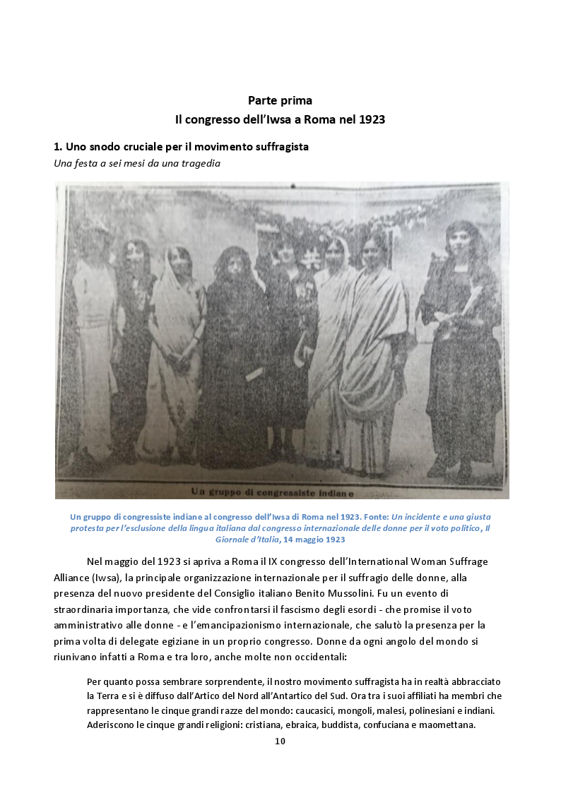Anteprima della tesi: Hoda Sharawi e il movimento internazionale delle donne (1919-1947), Pagina 7