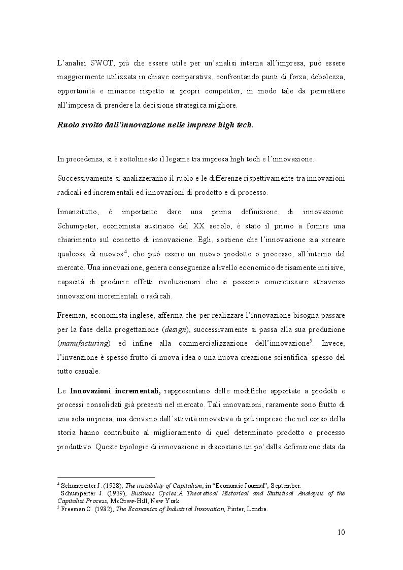 Estratto dalla tesi: Analisi di settore del comparto High Tech in Abruzzo