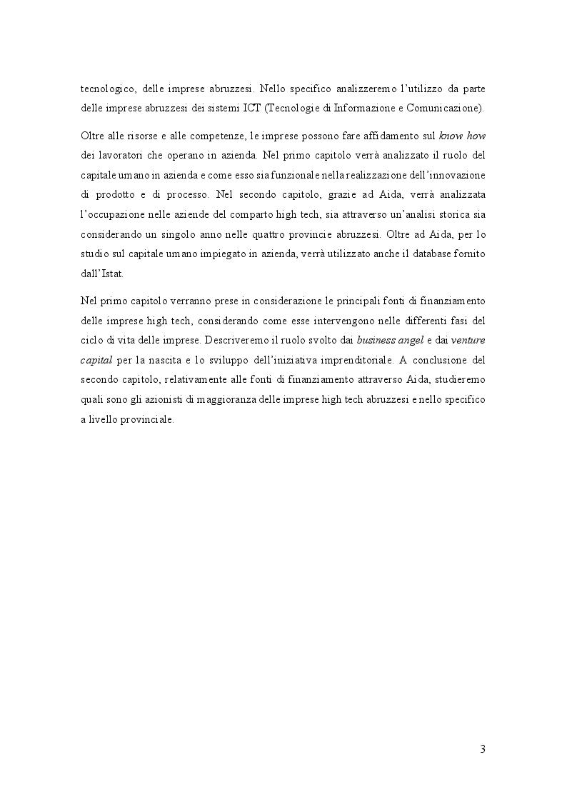 Anteprima della tesi: Analisi di settore del comparto High Tech in Abruzzo, Pagina 4