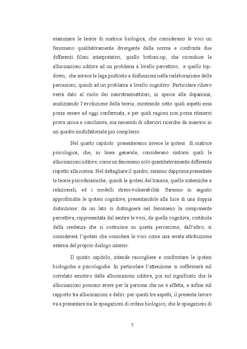 Anteprima della tesi: Le allucinazioni uditive nella schizofrenia: ipotesi biologiche ed ipotesi psicologiche a confronto, Pagina 4