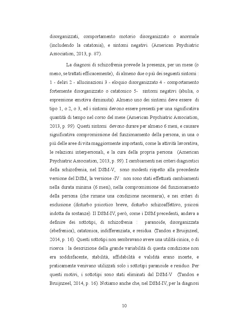 Anteprima della tesi: Le allucinazioni uditive nella schizofrenia: ipotesi biologiche ed ipotesi psicologiche a confronto, Pagina 7