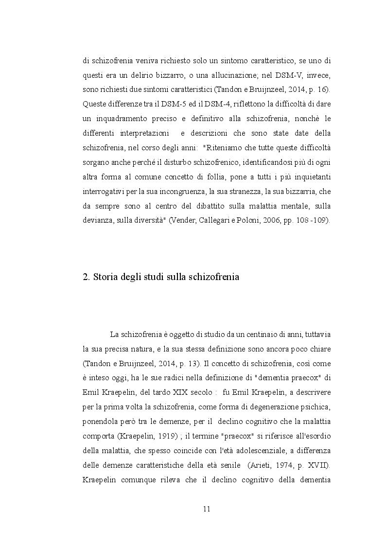 Anteprima della tesi: Le allucinazioni uditive nella schizofrenia: ipotesi biologiche ed ipotesi psicologiche a confronto, Pagina 8