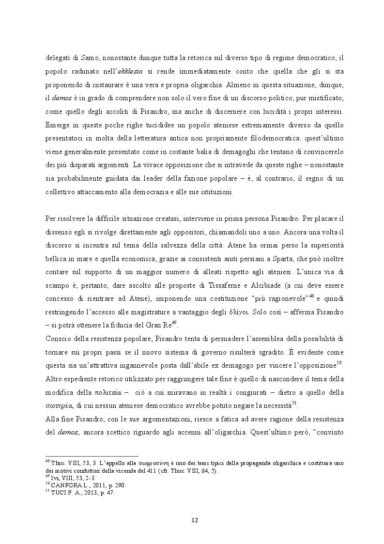 Estratto dalla tesi: Il colpo di Stato dei Quattrocento ad Atene. Metodi di attuazione e aspetti istituzionali