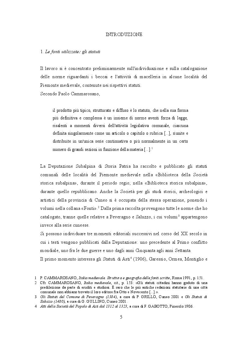 Anteprima della tesi: I beccai dell'area subalpina medievale. Economia, potere lavoro., Pagina 2
