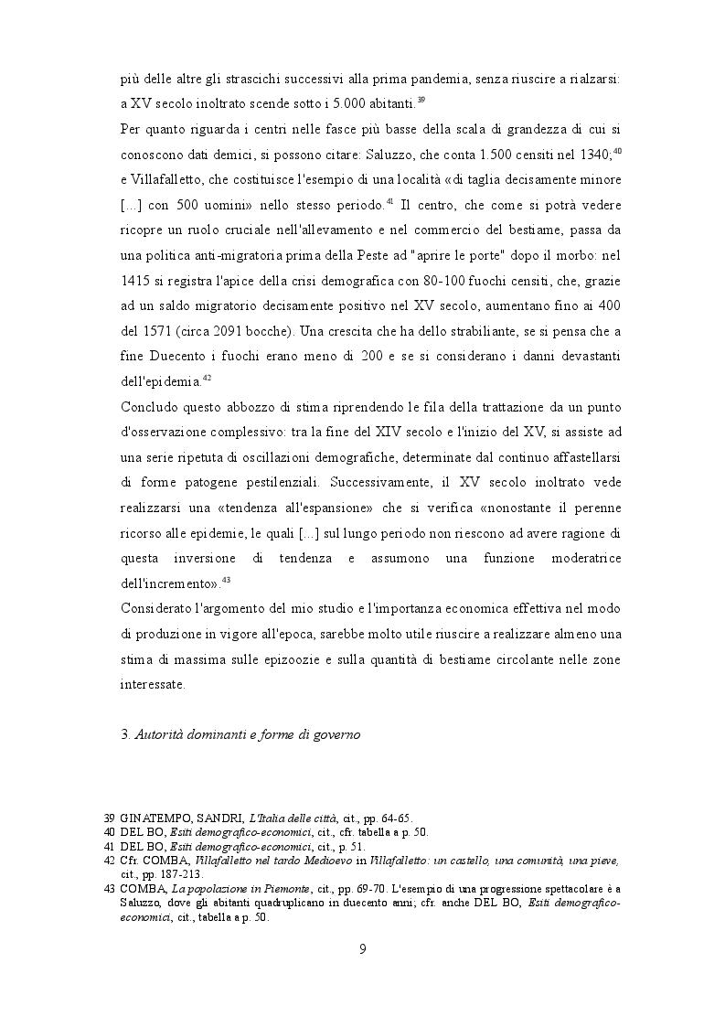 Anteprima della tesi: I beccai dell'area subalpina medievale. Economia, potere lavoro., Pagina 6