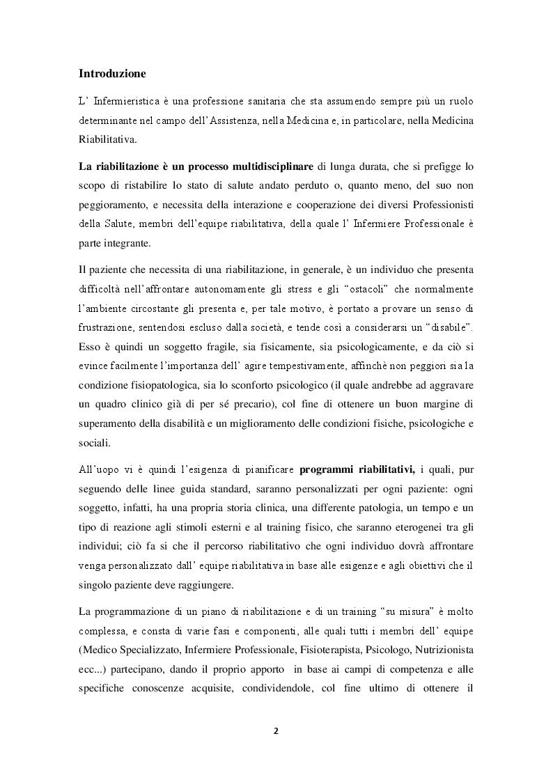 Anteprima della tesi: Il ruolo dell'Infermiere nella Riabilitazione Cardiologica, Pagina 2