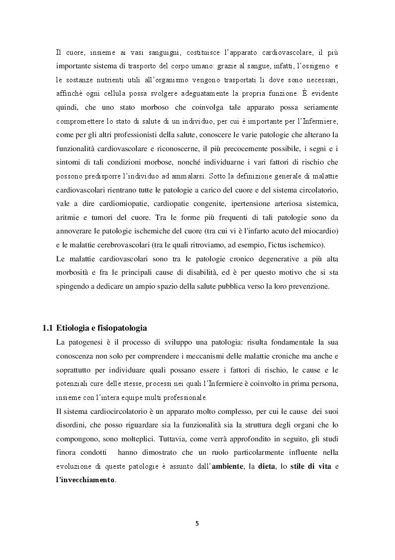 Anteprima della tesi: Il ruolo dell'Infermiere nella Riabilitazione Cardiologica, Pagina 5