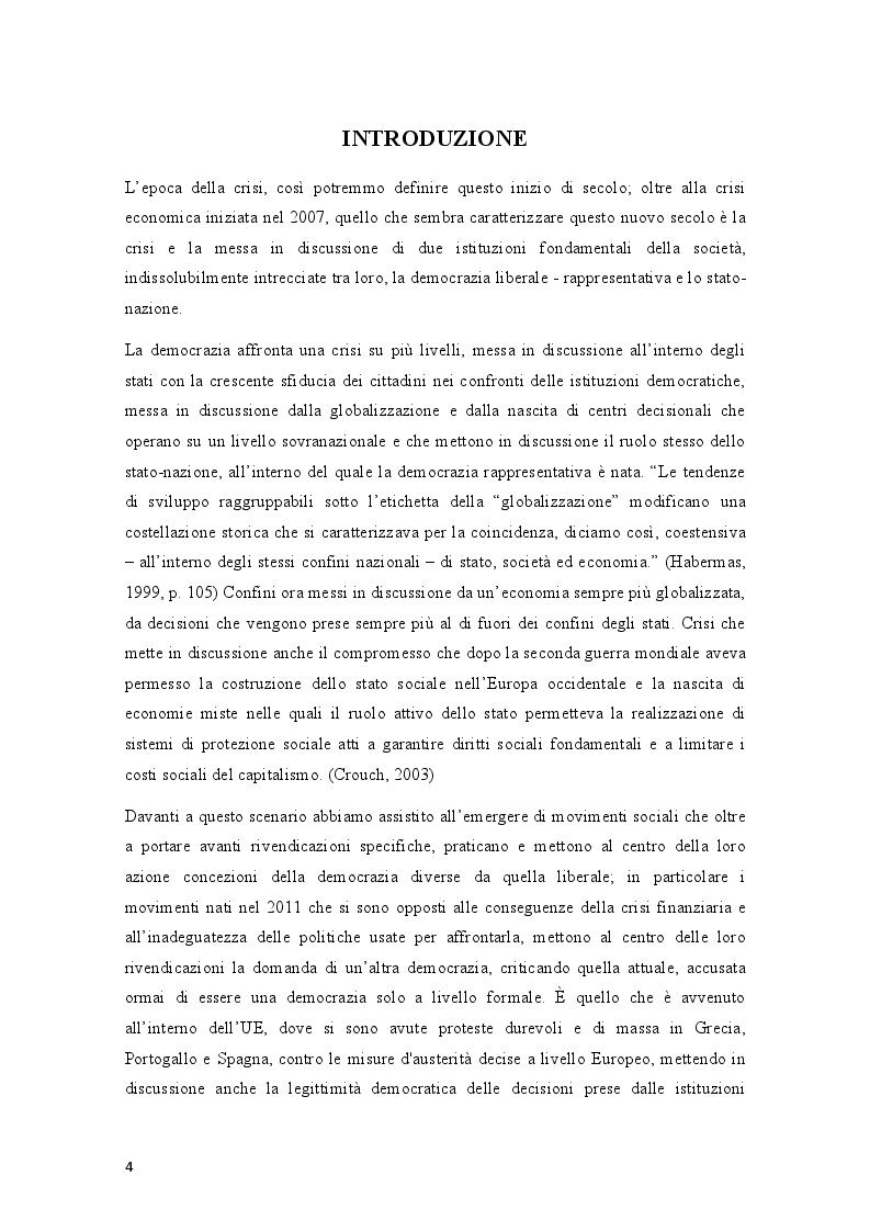 Anteprima della tesi: Movimenti sociali e democrazia nell'epoca della crisi: il caso degli indignados, Pagina 2