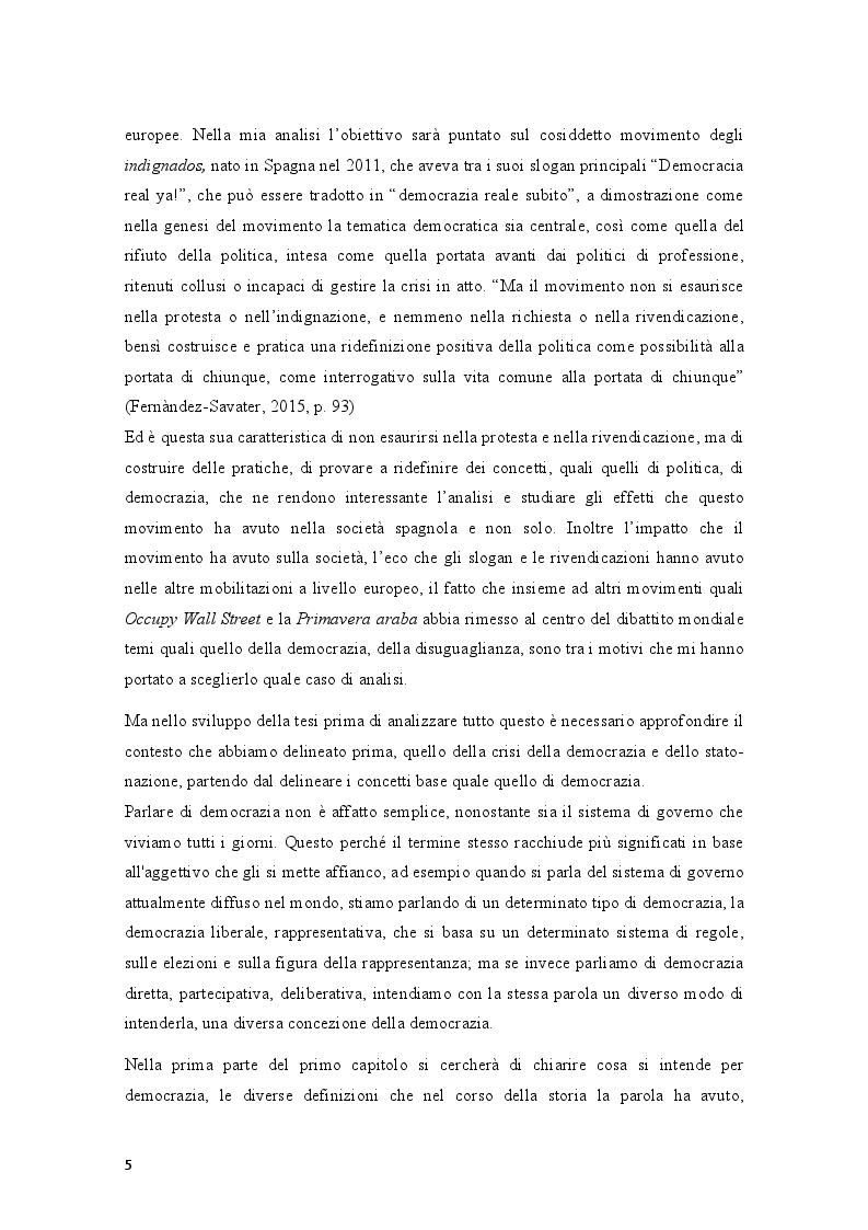 Anteprima della tesi: Movimenti sociali e democrazia nell'epoca della crisi: il caso degli indignados, Pagina 3