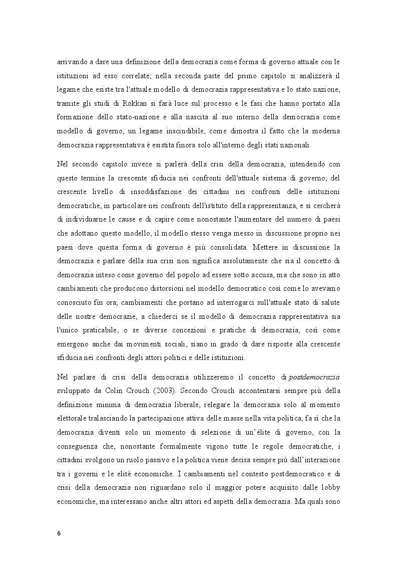 Anteprima della tesi: Movimenti sociali e democrazia nell'epoca della crisi: il caso degli indignados, Pagina 4