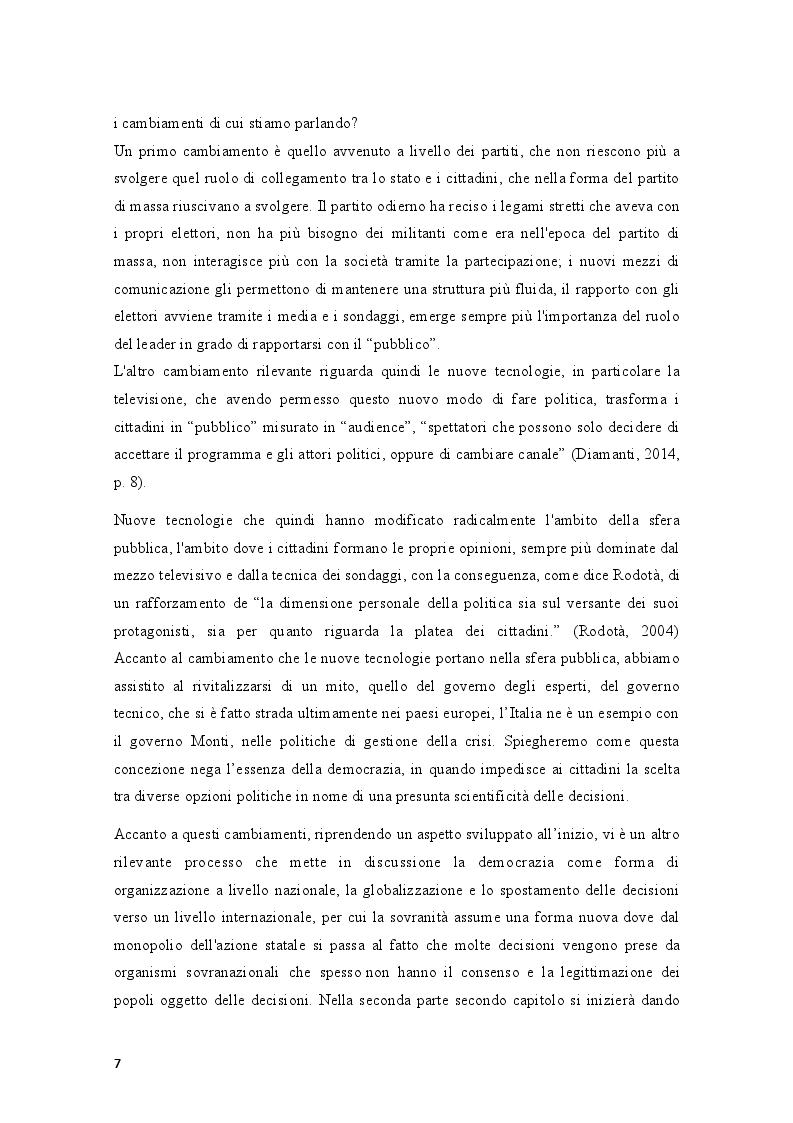 Anteprima della tesi: Movimenti sociali e democrazia nell'epoca della crisi: il caso degli indignados, Pagina 5