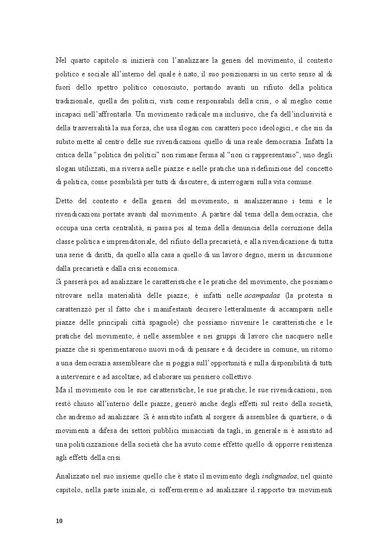 Anteprima della tesi: Movimenti sociali e democrazia nell'epoca della crisi: il caso degli indignados, Pagina 8