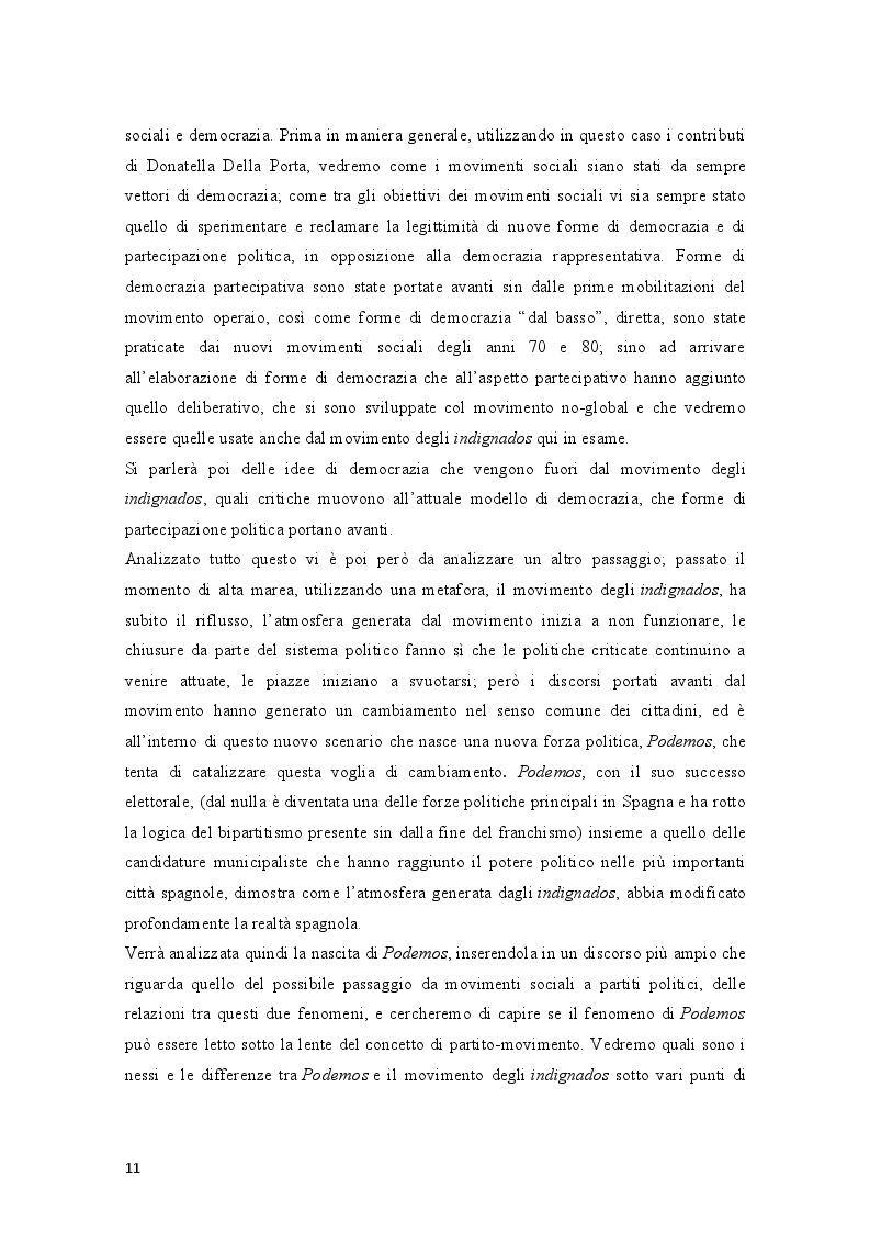 Anteprima della tesi: Movimenti sociali e democrazia nell'epoca della crisi: il caso degli indignados, Pagina 9