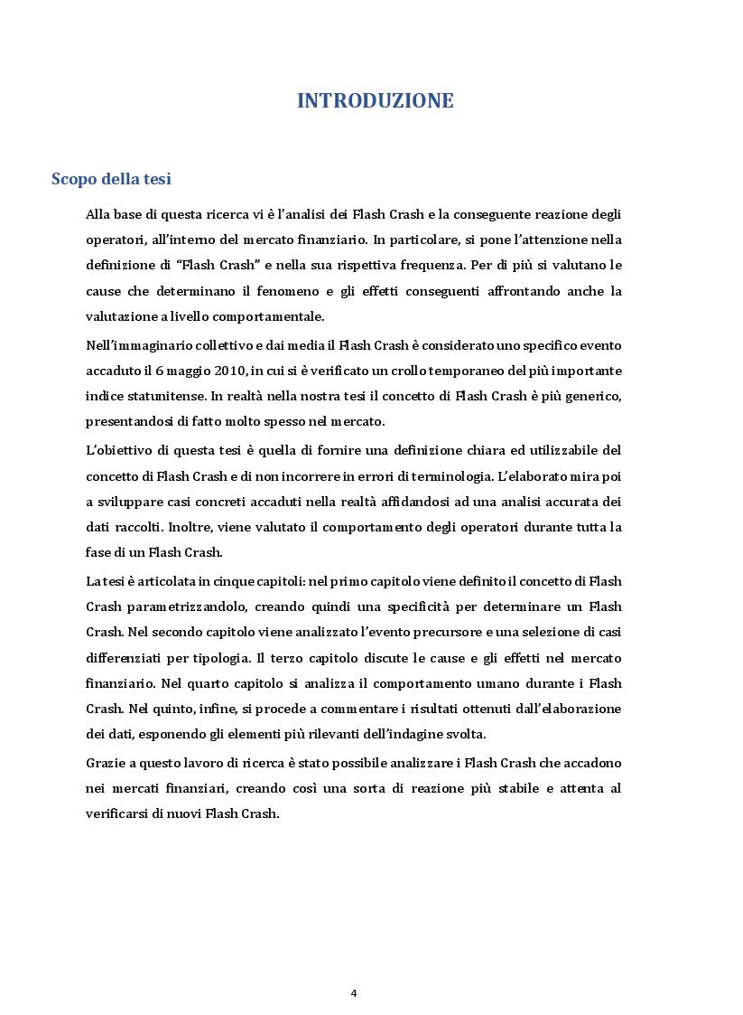 Anteprima della tesi: I Flash Crash e il comportamento degli operatori nei mercati finanziari, Pagina 2