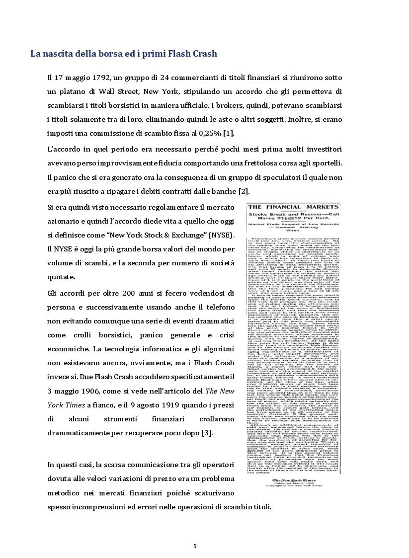 Anteprima della tesi: I Flash Crash e il comportamento degli operatori nei mercati finanziari, Pagina 3
