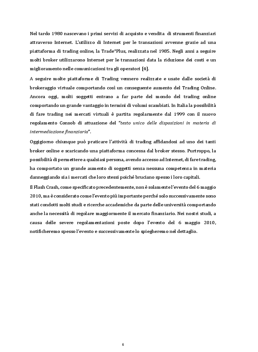 Anteprima della tesi: I Flash Crash e il comportamento degli operatori nei mercati finanziari, Pagina 4