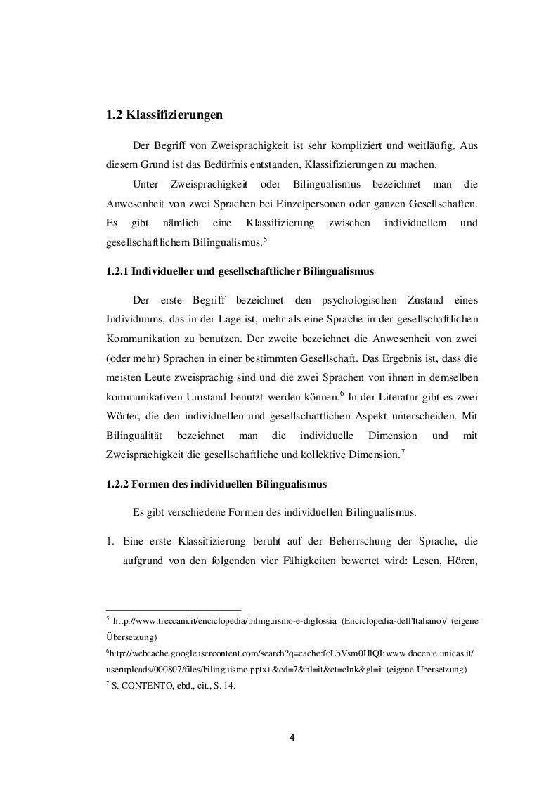 Anteprima della tesi: Die Zweisprachigkeit: Eine Ressource in der frühen Kindheit, Pagina 3