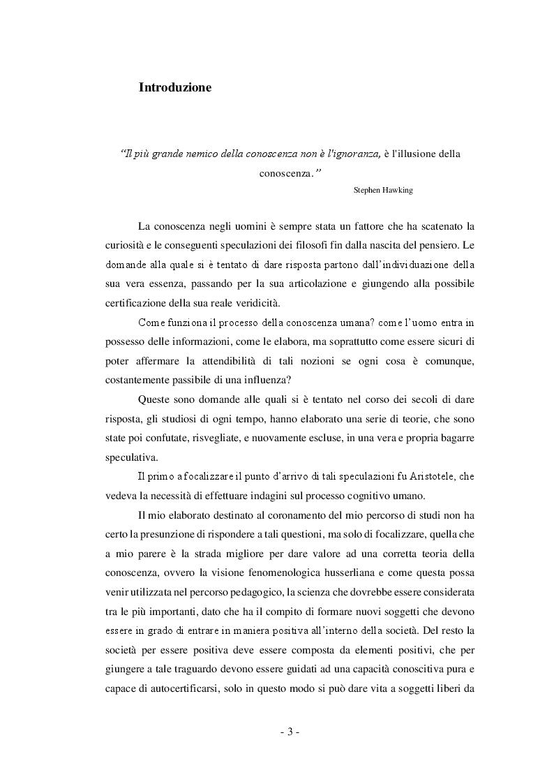 Anteprima della tesi: Il valore formativo della coscienza in Edmund Husserl , Pagina 2