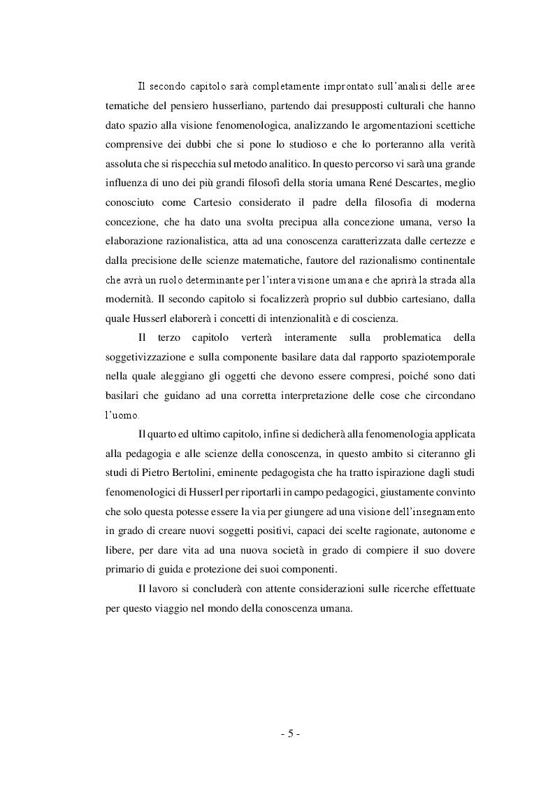 Anteprima della tesi: Il valore formativo della coscienza in Edmund Husserl , Pagina 4