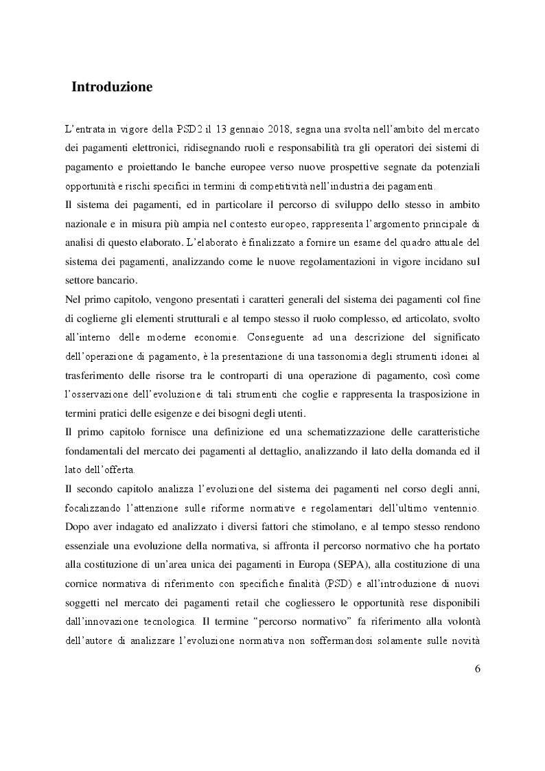 Anteprima della tesi: Open Banking e PSD2: sfide ed opportunità per le banche, Pagina 2