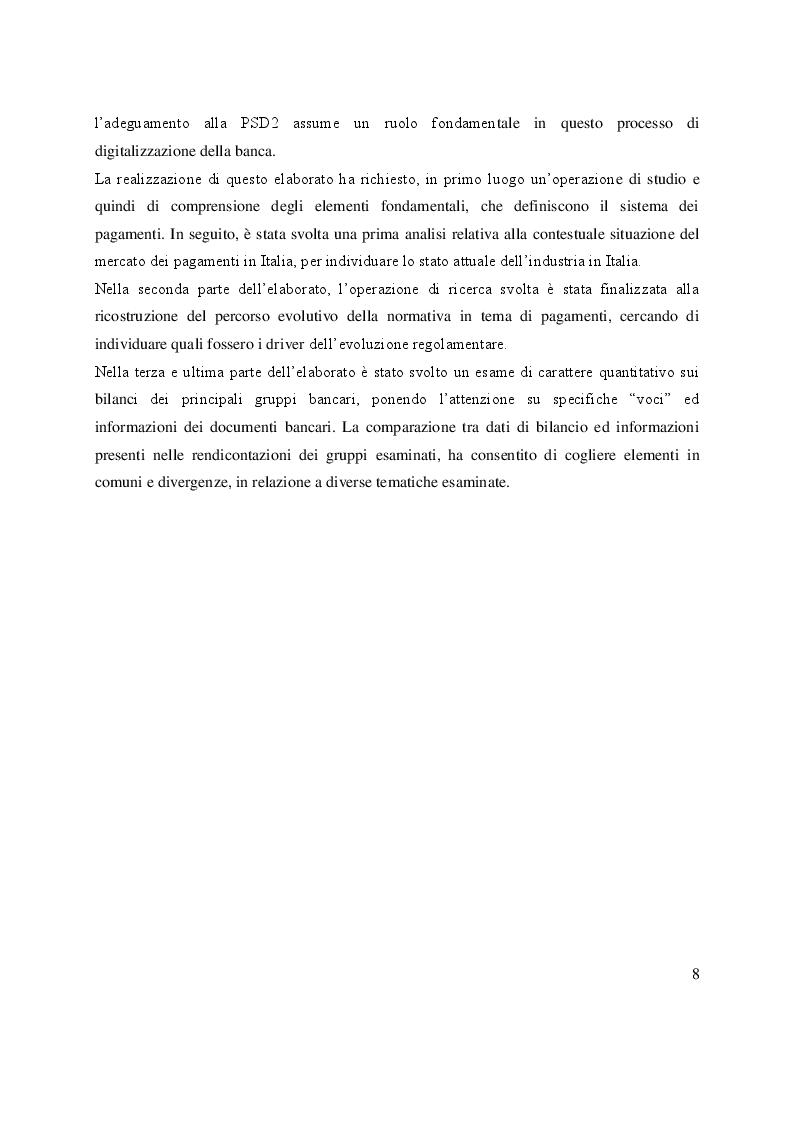 Anteprima della tesi: Open Banking e PSD2: sfide ed opportunità per le banche, Pagina 4