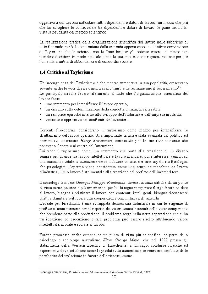 Anteprima della tesi: Dalla Produzione di Massa alla Produzione Flessibile, Pagina 4