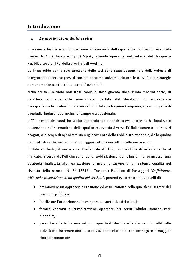 Anteprima della tesi: Analisi e Applicazione dei requisiti normativi UNI EN 13816 ad un servizio di trasporto pubblico, Pagina 3