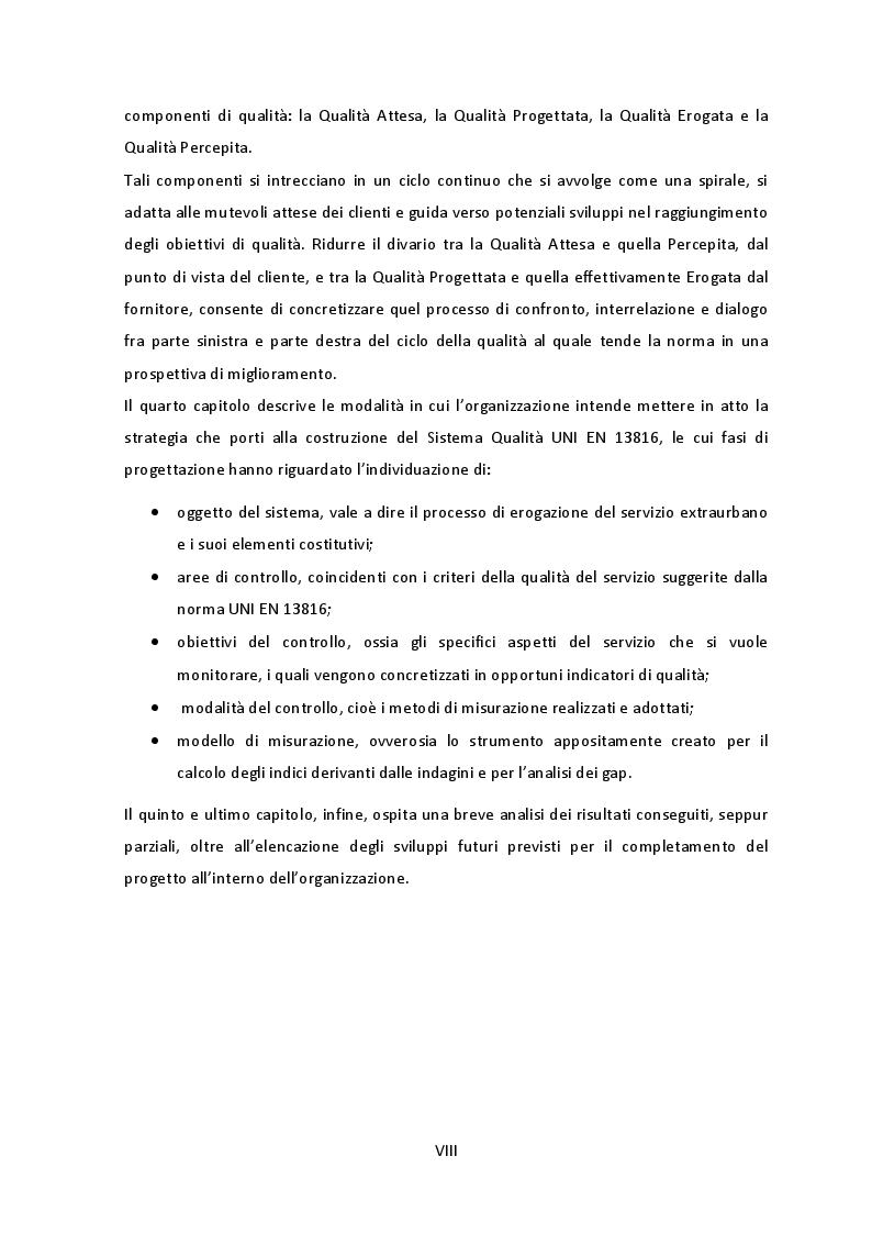 Anteprima della tesi: Analisi e Applicazione dei requisiti normativi UNI EN 13816 ad un servizio di trasporto pubblico, Pagina 5