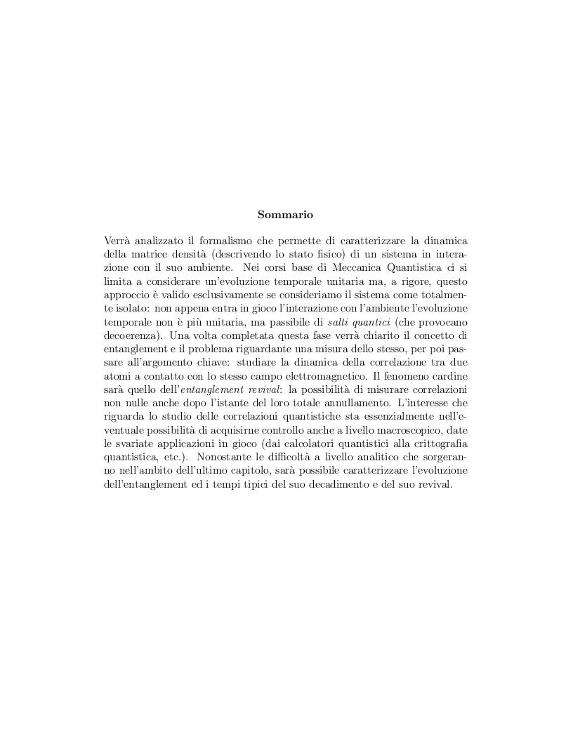 Anteprima della tesi: Correlazione tra due atomi mediata dal campo elettromagnetico, Pagina 2