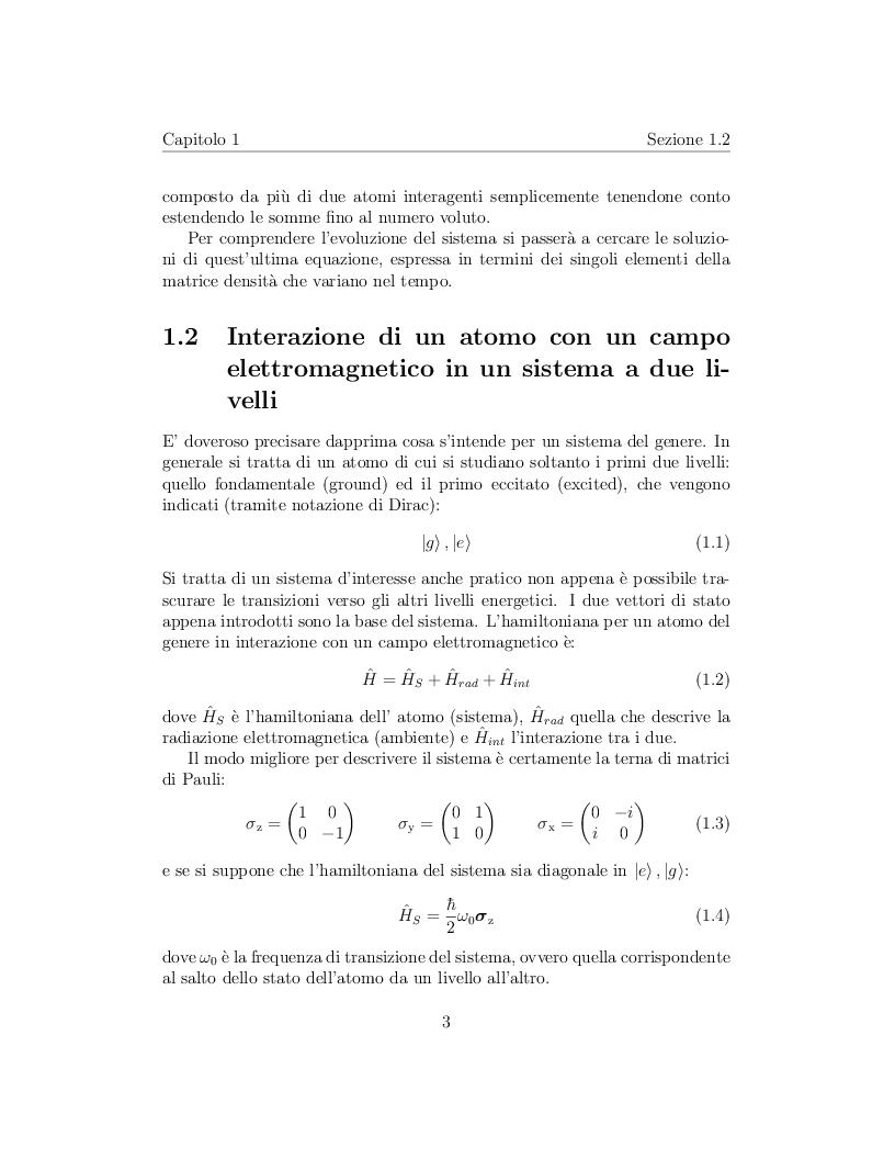 Anteprima della tesi: Correlazione tra due atomi mediata dal campo elettromagnetico, Pagina 4