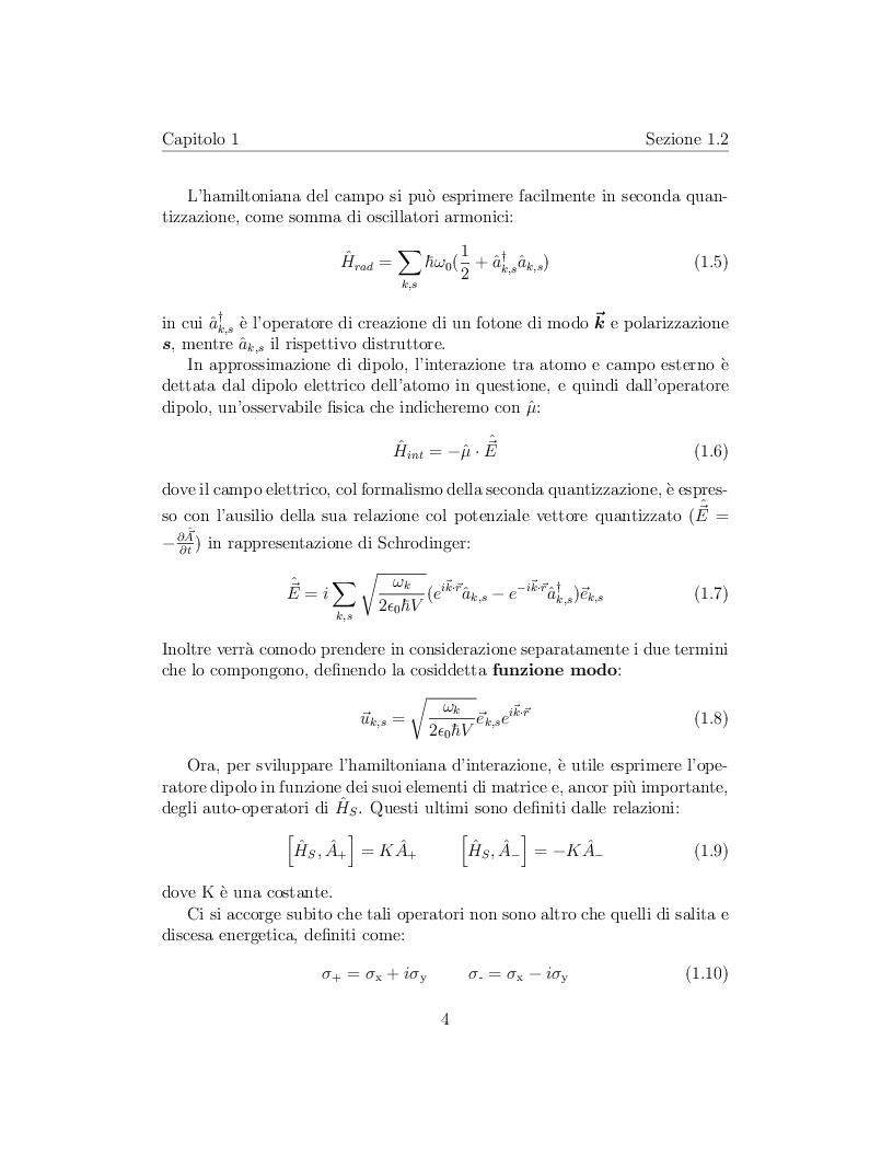 Anteprima della tesi: Correlazione tra due atomi mediata dal campo elettromagnetico, Pagina 5