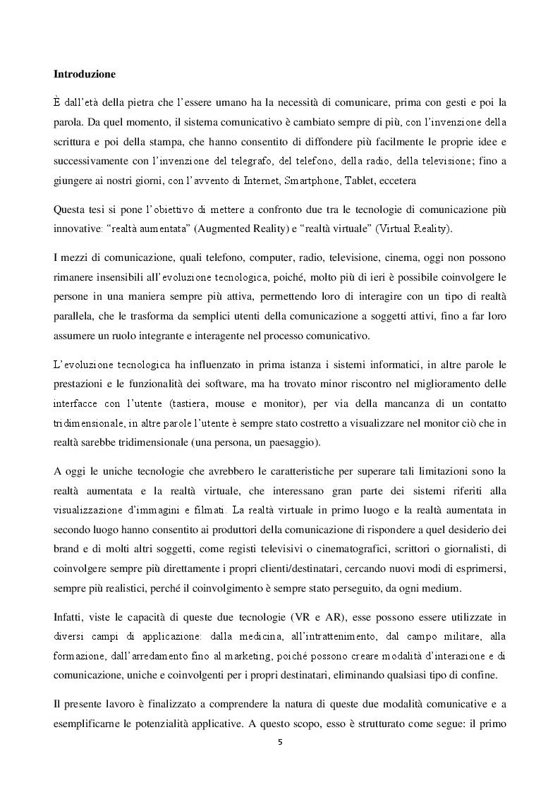 Anteprima della tesi: Realtà Virtuale e Realtà Aumentata: definizioni a confronto, Pagina 2