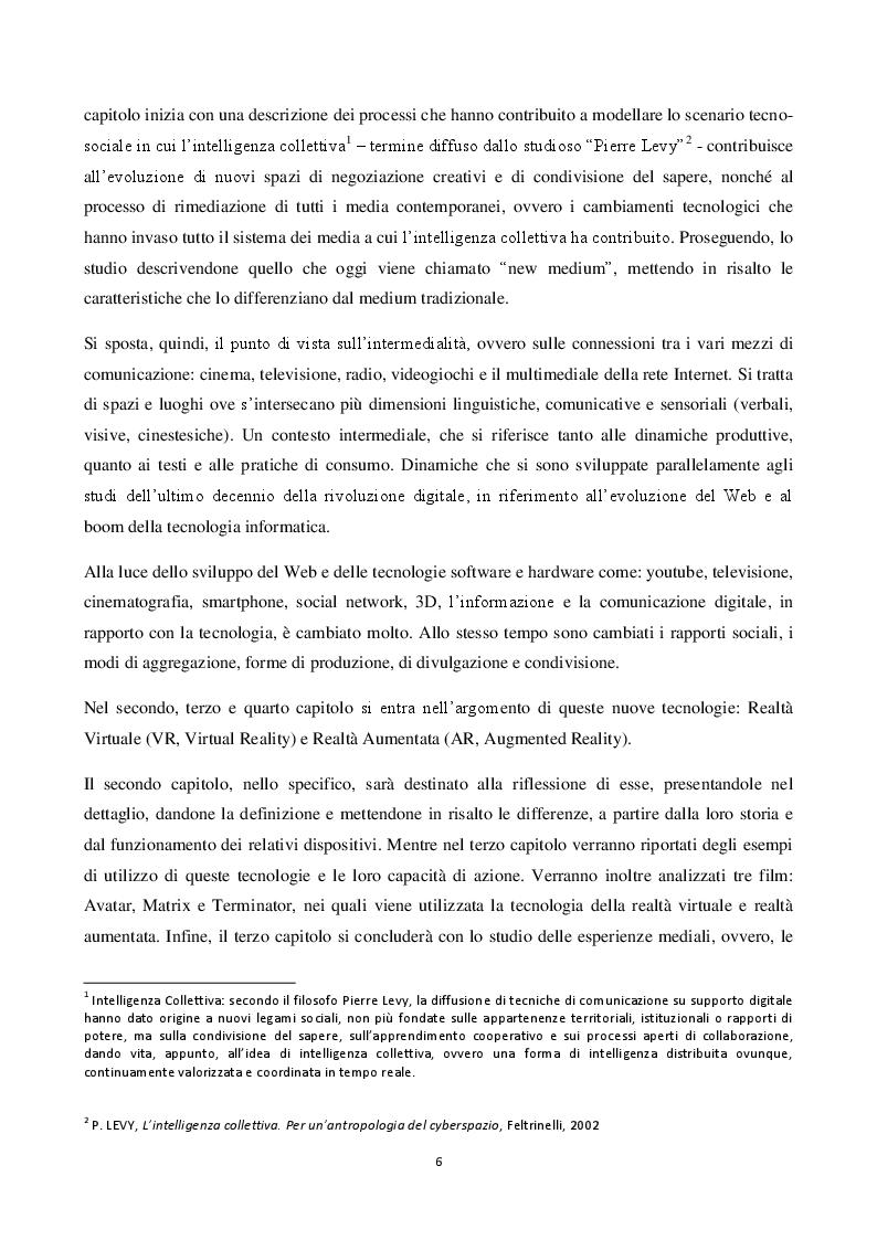 Anteprima della tesi: Realtà Virtuale e Realtà Aumentata: definizioni a confronto, Pagina 3