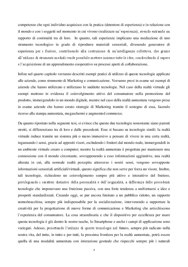 Anteprima della tesi: Realtà Virtuale e Realtà Aumentata: definizioni a confronto, Pagina 4