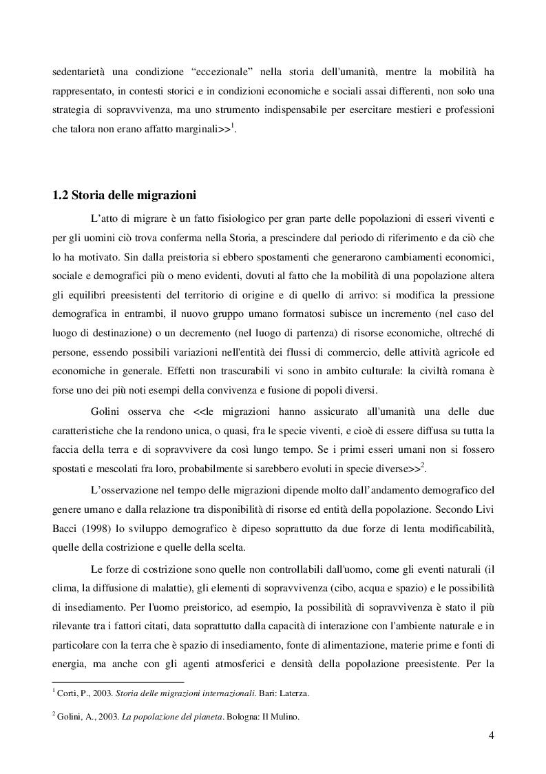 Anteprima della tesi: Immigrazione: aspetti economici e sociali, Pagina 6