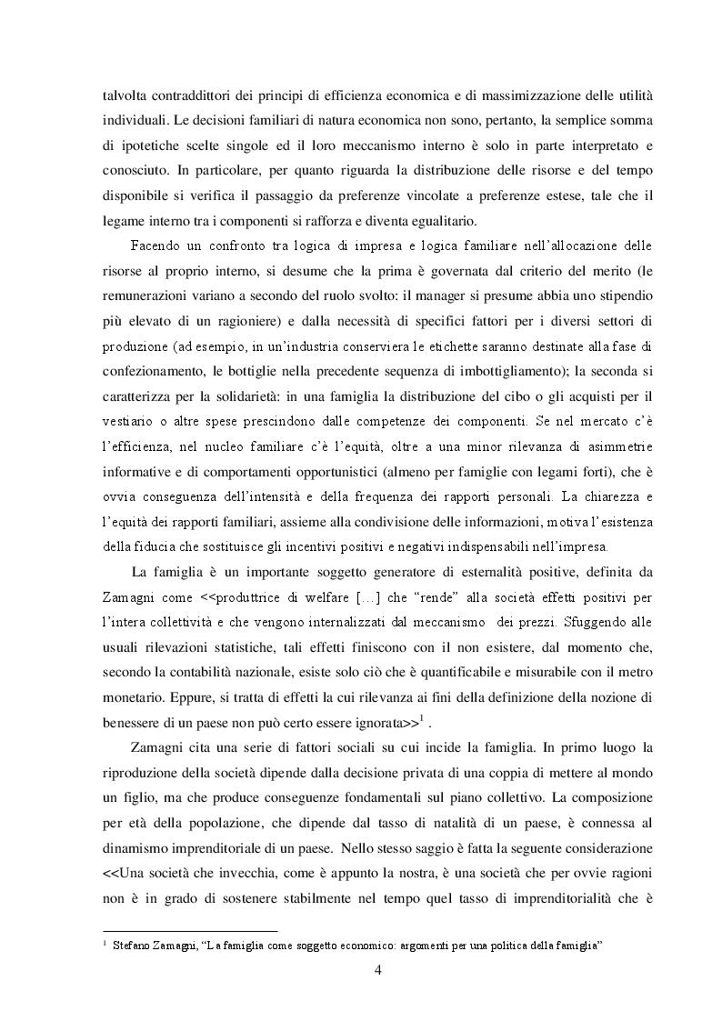 Anteprima della tesi: La Famiglia: un soggetto economico, Pagina 5