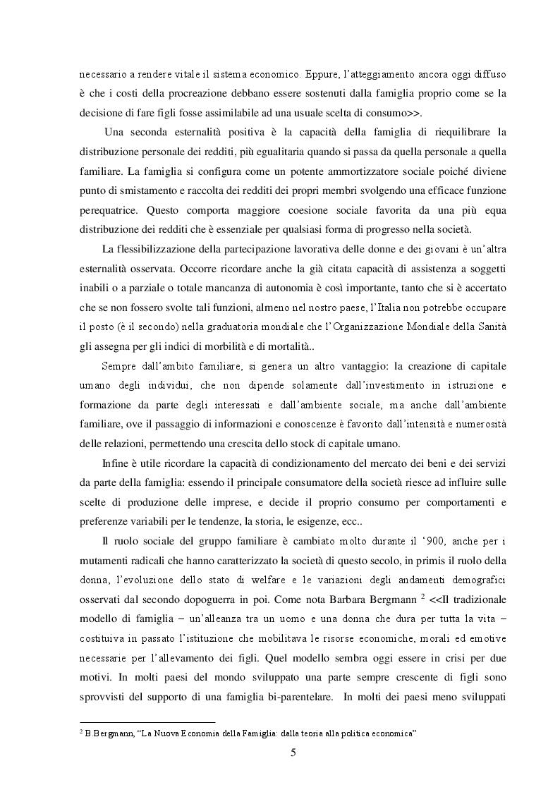 Anteprima della tesi: La Famiglia: un soggetto economico, Pagina 6